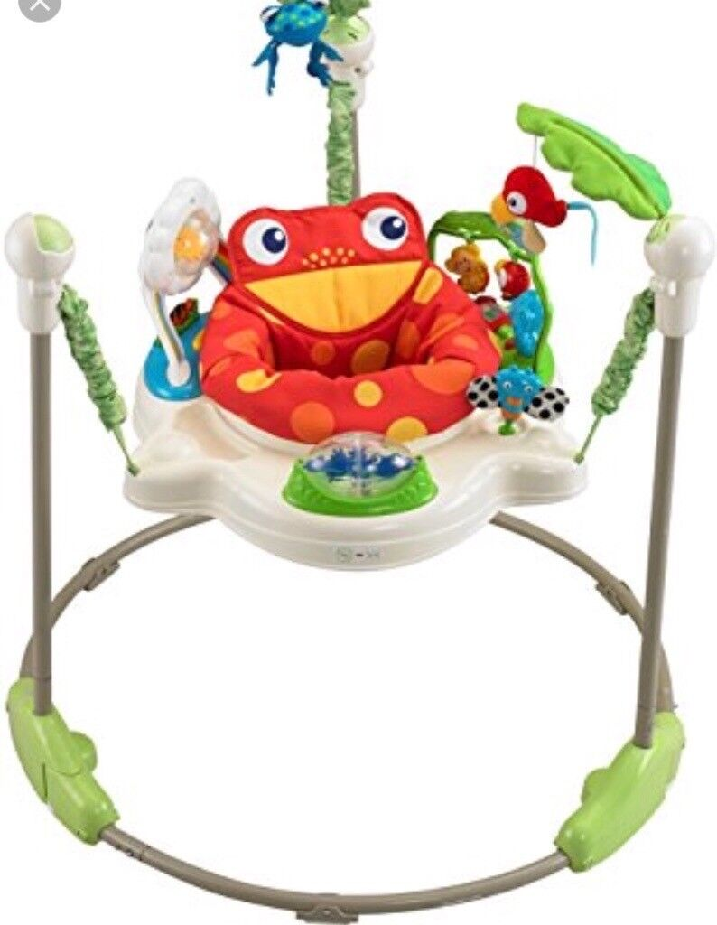 Rainforest Jumperooin Stoke Gifford, Bristol - Fisher Price Rainforest Jumperoo Seat rotates so baby can play with all parts. Good used condition, with all parts included. Sounds and lights all work and battery life left. Stickers are slightly faded from use. Fabric freshly washed in fairy non...