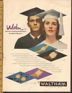 1948 large color magazine ad for Waltham Watches