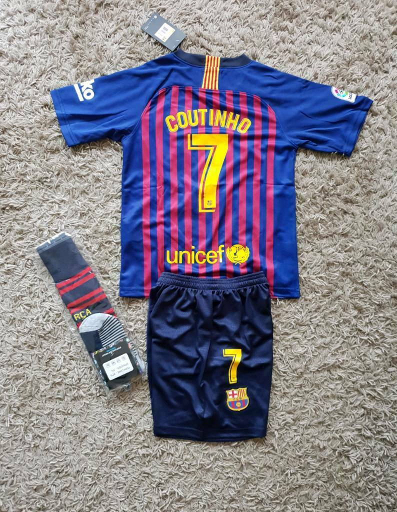 reputable site 3348e dbcac 2019 BARCELONA football kit 5/6 years nike shirt shorts COUTINHO | in  Birkenhead, Merseyside | Gumtree