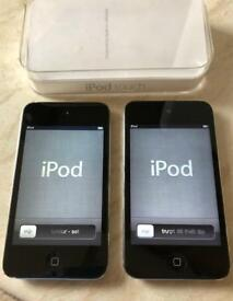 2 Apple iPod Touch 8gb 4th Generation