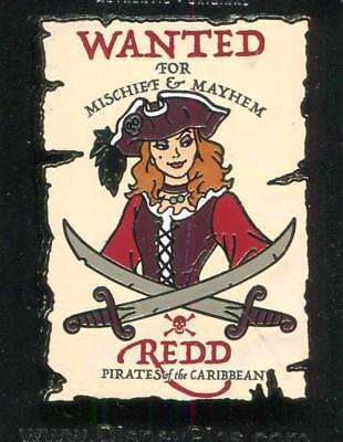 DLR Pirates of the Caribbean Wanted Poster Redd Disney Pin 130189