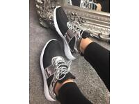 BNIB black and silver trainers sizes 3-8