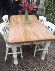 Farmhouse style table & chairs