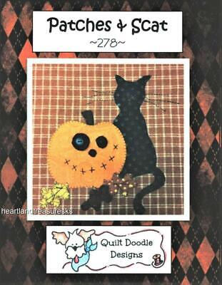 Patches & Scat Halloween Kitchen Dish Towel ~ Sewing Applique Quilt Pattern