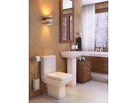 Pure Basin Sink and Toilet Set with Soft Close Seat
