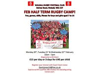 Half Term Rugby Camp at Walsall Rugby Club
