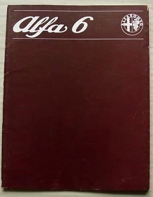 ALFA ROMEO ALFA 6 Car Sales Literature Pack Brochure 1979 FRENCH TEXT #793 983