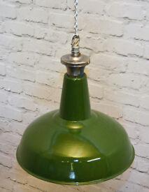 Benjamin industrial pendant lamps light enamel antique vintage metal factory old restaurant cafe
