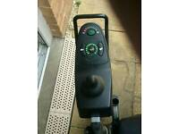 Electric wheelchair hardly used only been outside once comes with alloy ramps