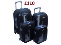 Chiba-Nari Japan - Brand-New 4pcs Hard Travel Trolley Suitcases Spinning wheels + Keys+Combi-Locks