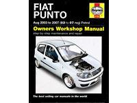 HAYNES FIAT PUNTO MANUAL PETROL 1.2 MODEL 2003 - 2007