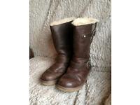 Genuine Kensington Brown Toast Leather Ugg Boots Size 5.5 UK Uggs