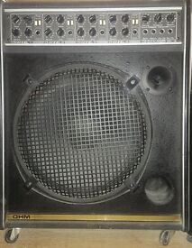 """OHM KA 125 POWERED SPEAKER/AMPLIFIER WITH EFFECTS EXCELLENT BALANCED SOUND WITH 15"""" SPEAKER"""