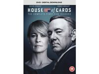 HOUSE OF CARDS DVD COLLECTION COMPLETE FIRST FIVE SERIES BRAND NEW
