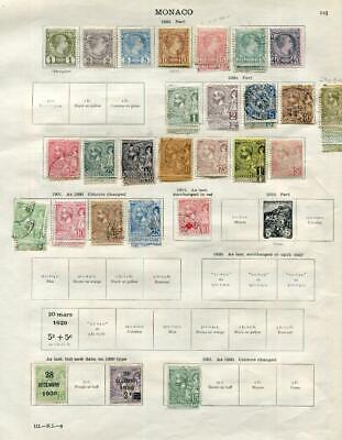 MONACO: 1885-1927 Examples - Ex-Old Time Collection - 2 Sides Page (41621)