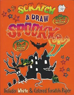 Halloween Drawings Ideas (Scratch & Draw Spooky White & Colored Papers Stylus Instructions Ideas)