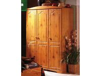 Hygena Canterbury Pine Triple Robe Wardrobe Flat Packed with Original Instructions