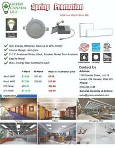 'Steal the Deal' 40% OFF- 4'' LED Slim Panel / Recessed Potlight 9W = 60W, ETL - IC Rated - 10 Yrs Warranty - 9.99 $