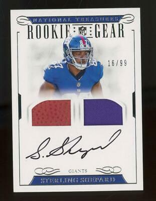 2016 National Treasures Rookie Gear Sterling Shapard 16/99 Auto Jersey Ball RC
