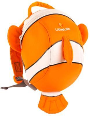 New Littlelife Backpack with Rein Clownfish Nemo toddler