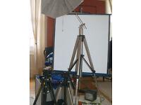 Job Lot Photographic Lighting Studio Equipment Tripods Lights, Screen/Reflector Mini/Portable Studio