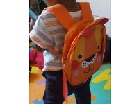 Red Kite Toddlers Lion Back Pack with Detachable Reins