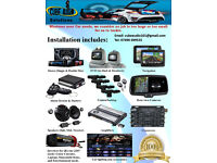 Car Audio, Light & Alarm System Installation (Stereo, DVD, Navigation, Alarms, Speakers, Amplifiers)