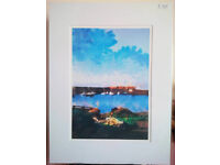 Beautiful mounted print by respected Borders artist