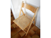 Folding Hardwood Chair, Kitchen, Conservatory, Patio, Camping, Festival Use