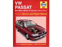 HAYNES VOLKSWAGEN VW PASSAT MANUAL 1988 TO 1996 PETROL AND DIESEL