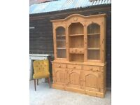 Stunning Welsh Dresser Waxed Pine Cost £1250 *FREE DELIVERY* Farmhouse Sideboard Shabby Chic (oak)