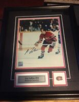 GUY LAFLEUR Autographed Professionally Framed 15x19 Photo w'COA