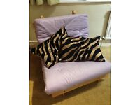 SINGLE FUTON SOFA BED (LILAC)