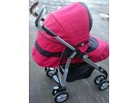 Red silver cross 3D pushchair for sale