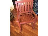 John Lewis FSC Eucalyptus Wood Rocking Chairs for indoors or outdoors in excellent condition.