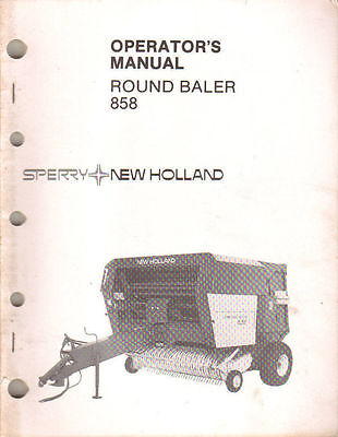 New Holland 858 Round Baler Operators Manual