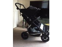 Mountain Buggy Duet Double Buggy Twin Pushchair in VGC