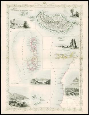 1850 Antique Map