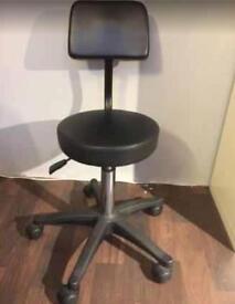 Black hairdressing/beauty/nail tech stool