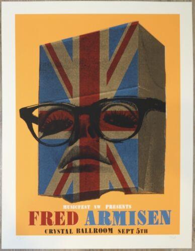 2013 Fred Armisen - MFNW Portland Silkscreen Concert Poster s/n by Joanna Wecht