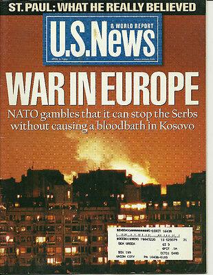Us News   World Report April 5 1999  Nato Mickael Milken John Mccain