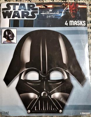 Star Wars Episode III Darth Vader Party Favor Masks 4 Masks Per Package NEW