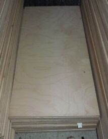 5 pieces of NEW 9mm B/BB Grade Premium Quality Russian Birch Plywood 33in x 15in (838mm x 380mm)