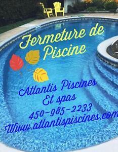 FERMETURE DE PISCINE ET SPA !