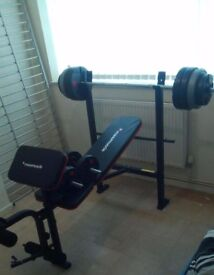 Maxi Muscle Weight Bench + extras