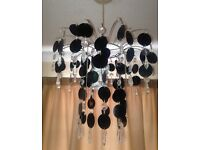 Set of chandelier ceiling shades- 1 Black + 1 Pink, both for £20