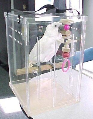 Bird Carrier Amazon Parrot Bird Acrylic Carrier bird transporter , kennel