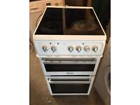 Hotpoint Ceramic Plate Nice Electric Cooker 50cm wide & Fully Working Order