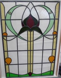 Stained glass door panel - newly constructed - perfect condition