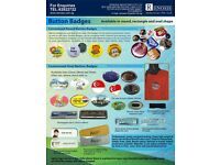 Gumtree: 91817766 Button Badges Instant supply ang Mo kio CHEAP FAST GOOD